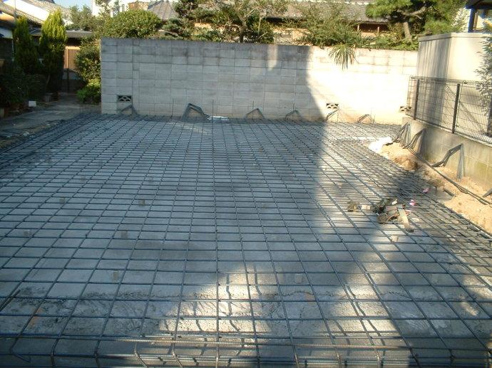 钢筋网布设施工现场